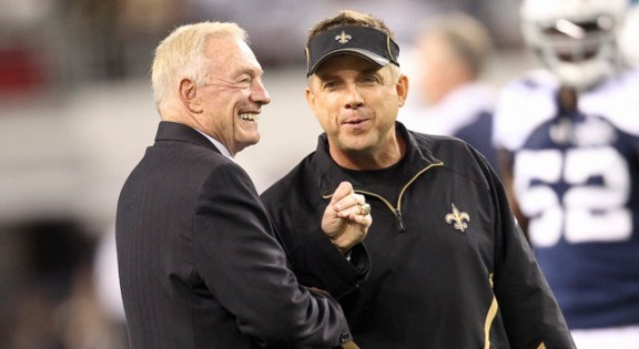 Jerry Jones has never been shy of his admiration for Sean Payton.  Circumstances could give Jerry the opportunity to bring the long-time Saints head coach to Dallas in 2016.