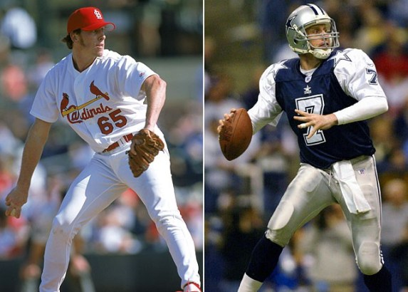 Chad Hutchinson was a two-sport star at Stanford, but when his pro baseball career never flourished with the Cardinals, Jerry Jones gave him a chance to throw strikes for the Cowboys.