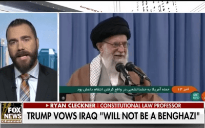 Ryan Cleckner discusses Baghdad embassy protests on Fox News