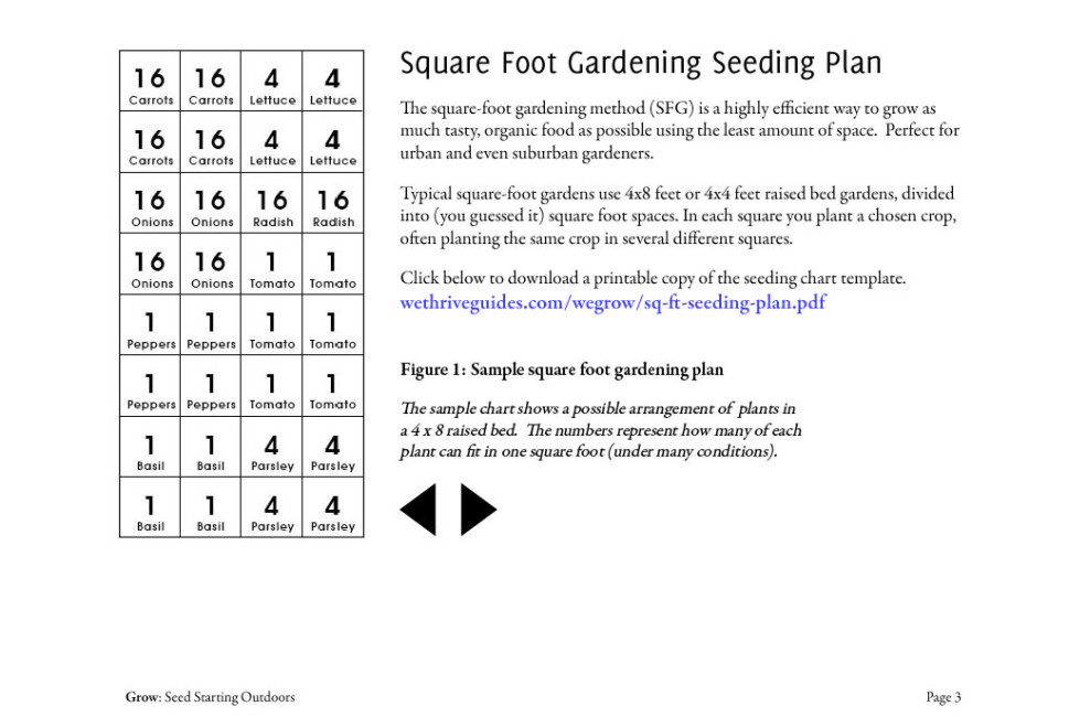 Grow Seed Starting Outdoors multimedia book sample page