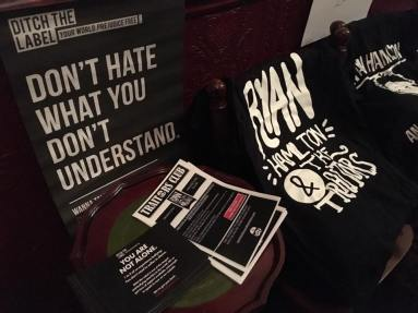 Supporting the charity Ditch The Label-Pic FannyPack Records