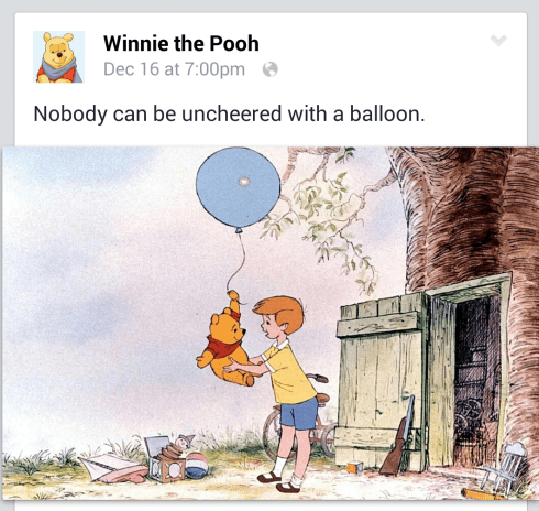 Nobody can be uncheered with a balloon