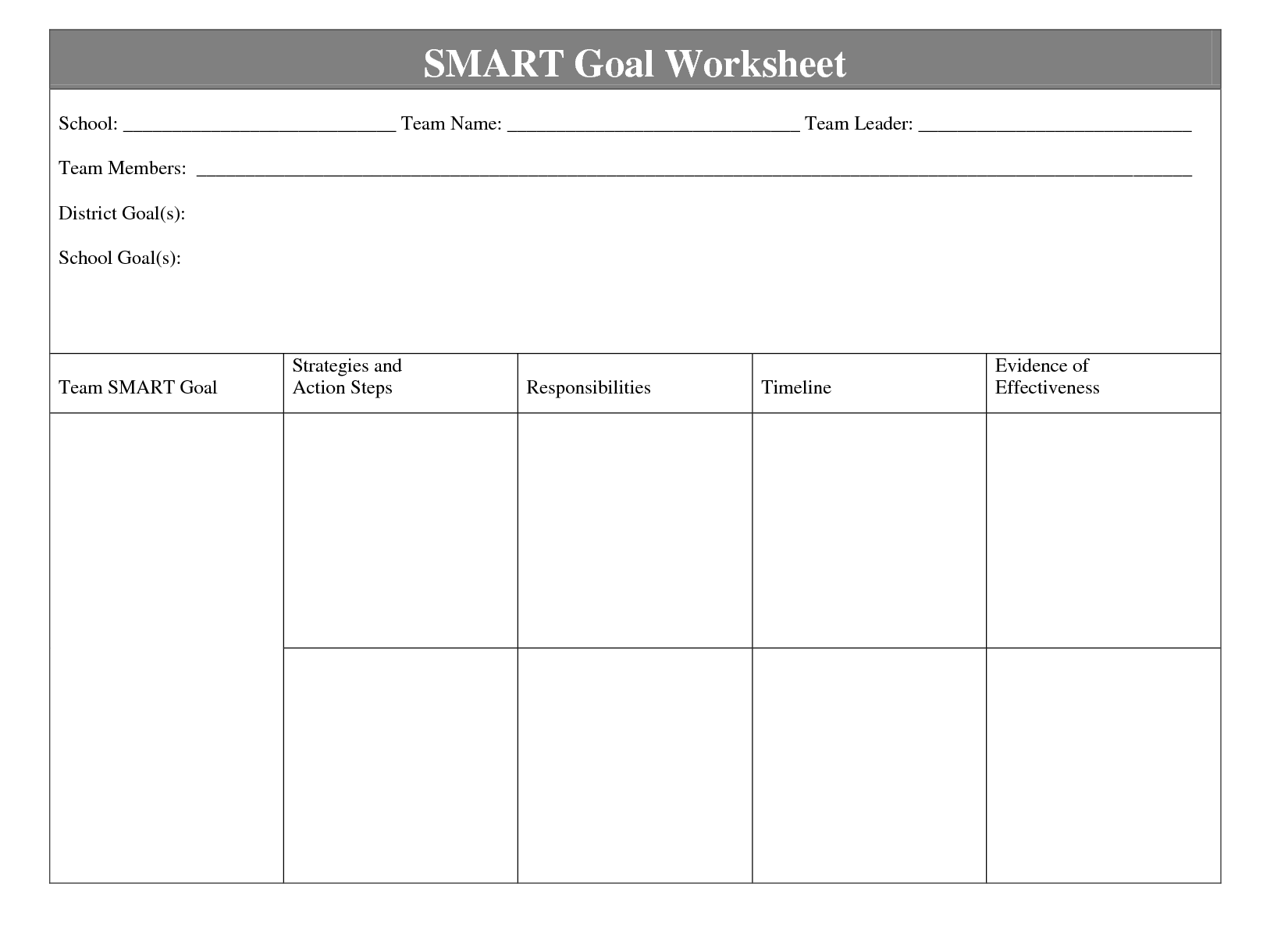 Goal Mapping Template Ryan S Marketing Blog