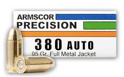 ARMSCOR 380ACP 95GR FMJ 50/1000