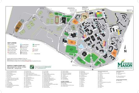 map gmu fairfax campus map visitors parking » Free Wallpaper for ...