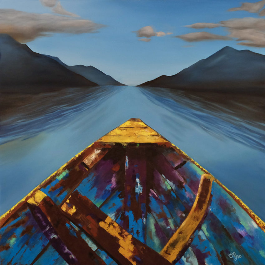 boat-with-mountains-painting