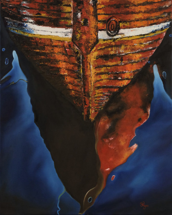 painting-boat-reflection