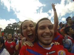 July 2014 - Celebrating the victory of Costa Rica's National team during the World Cup!