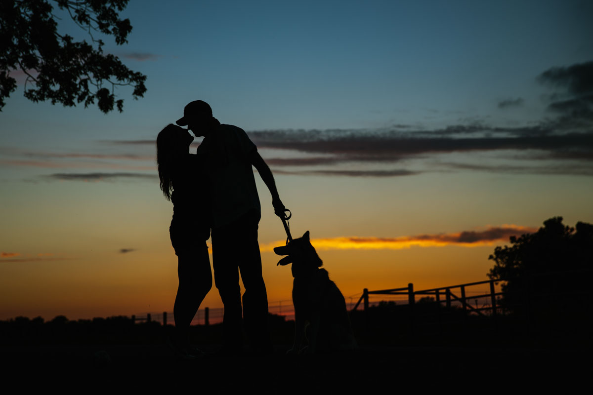Country Couple Portraits, Rustic, Silhouette
