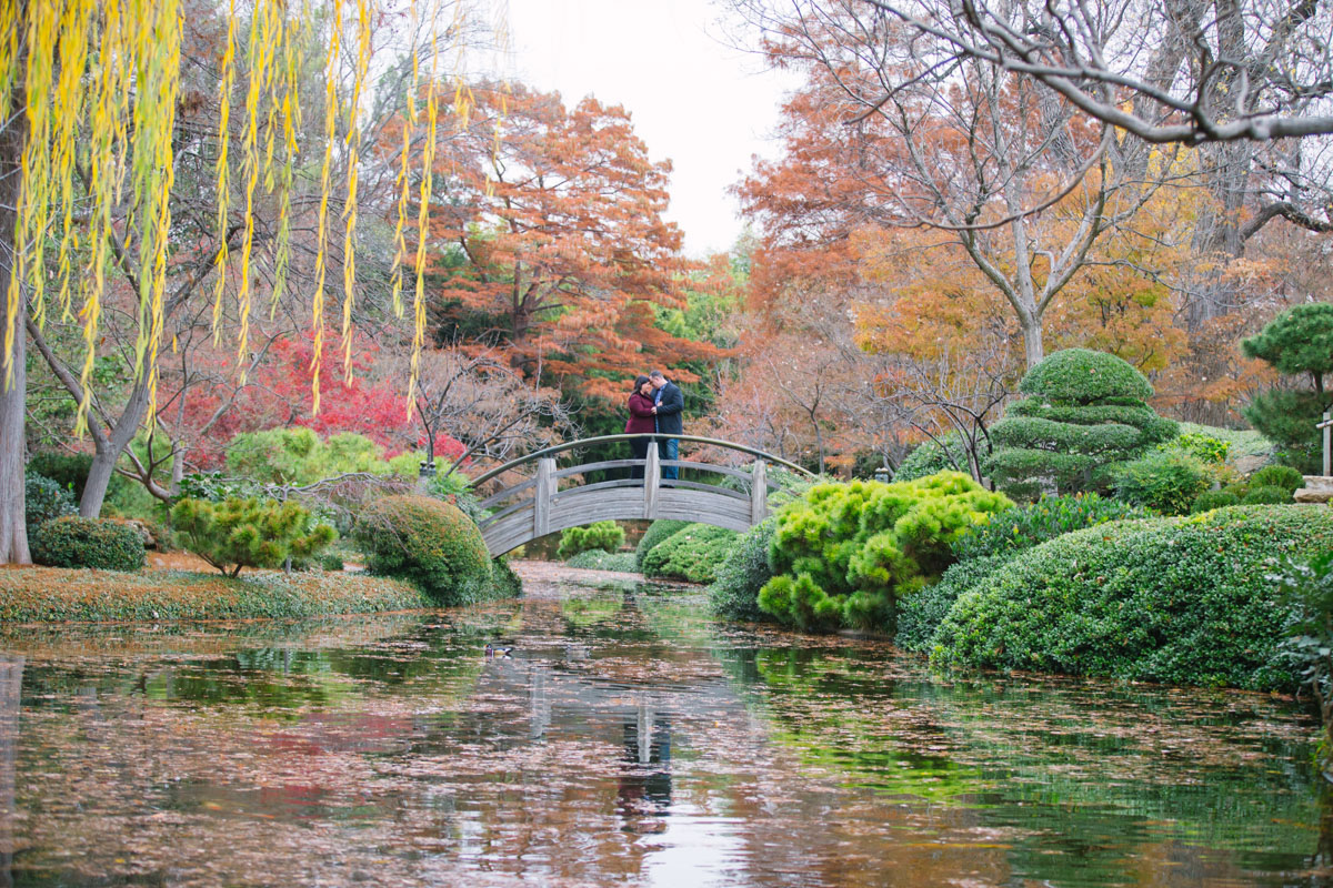 Japanese Garden Engagement Pictures, Outdoor Portraits