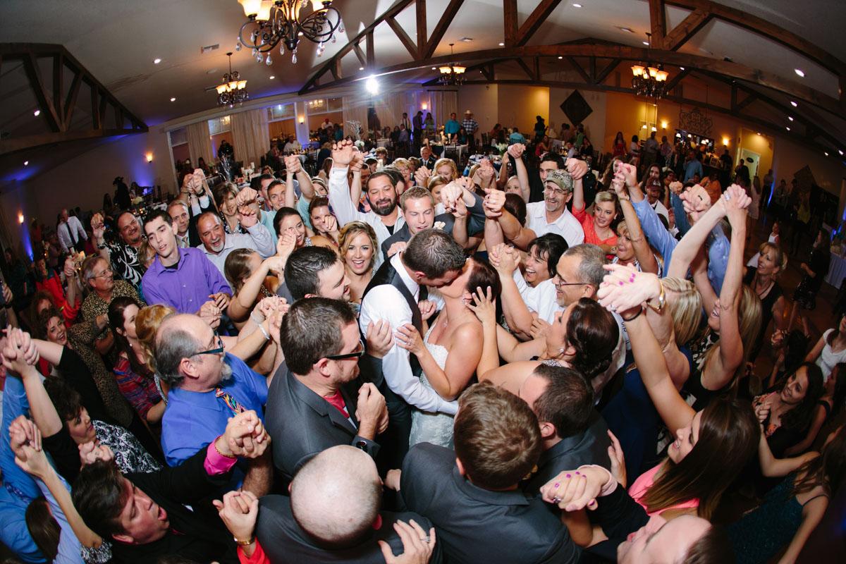 big group dancing photo at the orchard wedding
