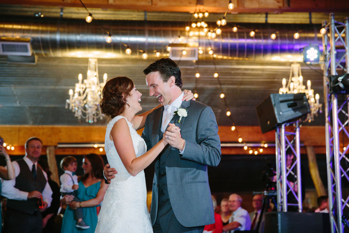 Frist Dance in red barn at rustic grace