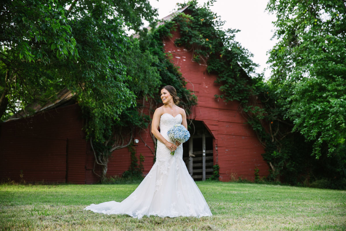 farmhouse mckinney red barn bridals