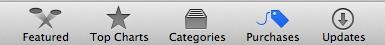 The Apple App Store Tool Bar