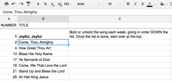 How To Set Up a Multi-Tabbed Music Tracking Spreadsheet