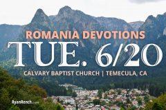 Romania Devotional Journal - June 22