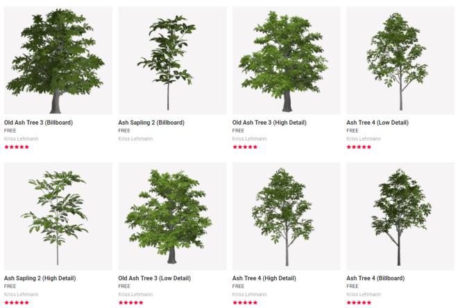 Free Trees from Kriss Lehmann 10 August 2017