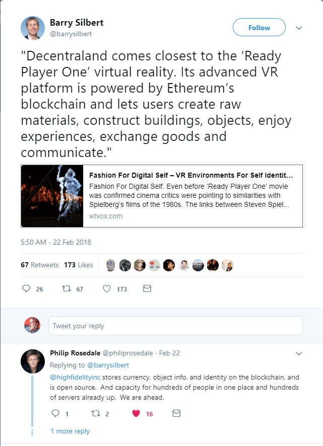 Decentraland Hype vs Reality 23 Feb 2018