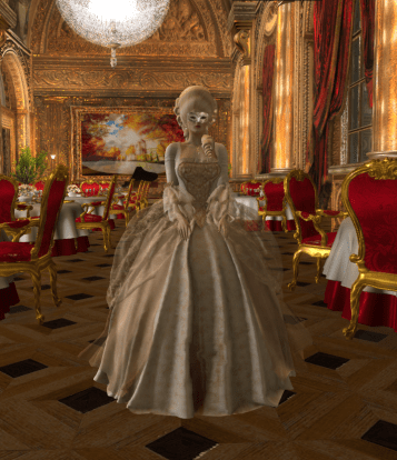 Vanity Fair in Le Carnivale Baroque Gown by SIlvan Moon Designs 2 20 Apr 2018