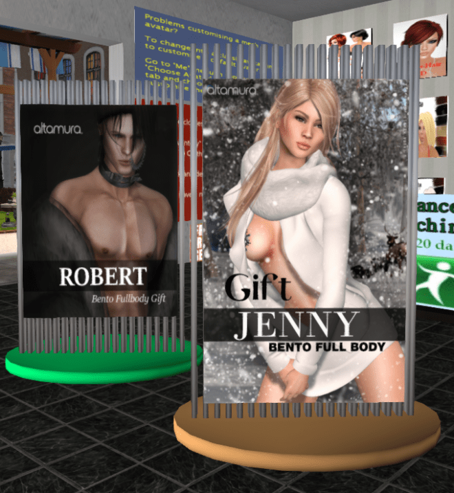 Robert and Jenny Altamura Fullbody Mesh Avatars London City 29 Aug 2018