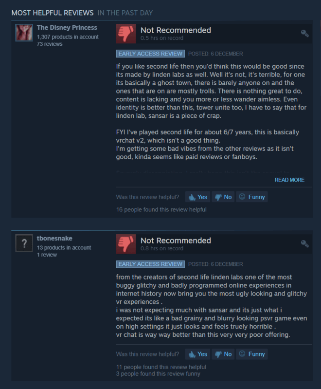 Sansar Steam Negative Review 2 7 Dec 2018.png