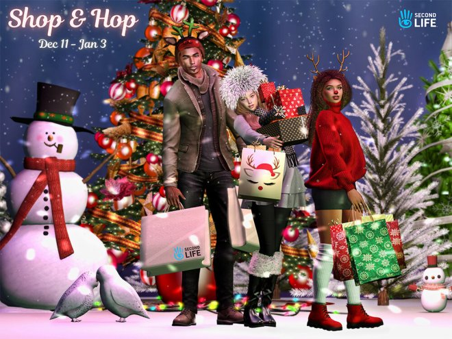 Secondlife Christmas 2021 Updated Second Life Steals Deals And Freebies Gifts From The 2020 Winter Shop And Hop Ryan Schultz