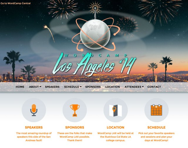 WordCamp Los Angeles 2014 website