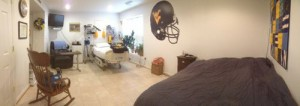 Panorama of Ryan's Room.