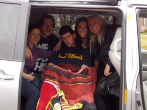 Krystal Koons and my family enjoying the van.