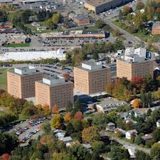 """""""Towers"""" dormitory complex at WVU where Ryan & Joshua lived their freshman year."""