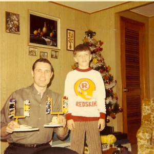 "Yep, that's me around the age of 8 with my brand new Redskins sweatshirt when they still had the old ""R"" logo."