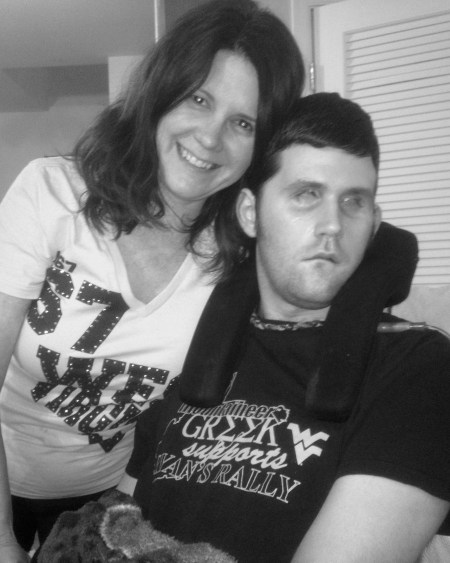 "Here is a photo of Sue & Ryan that you may use to upload to ""Unstoppable Moms"" entry form."
