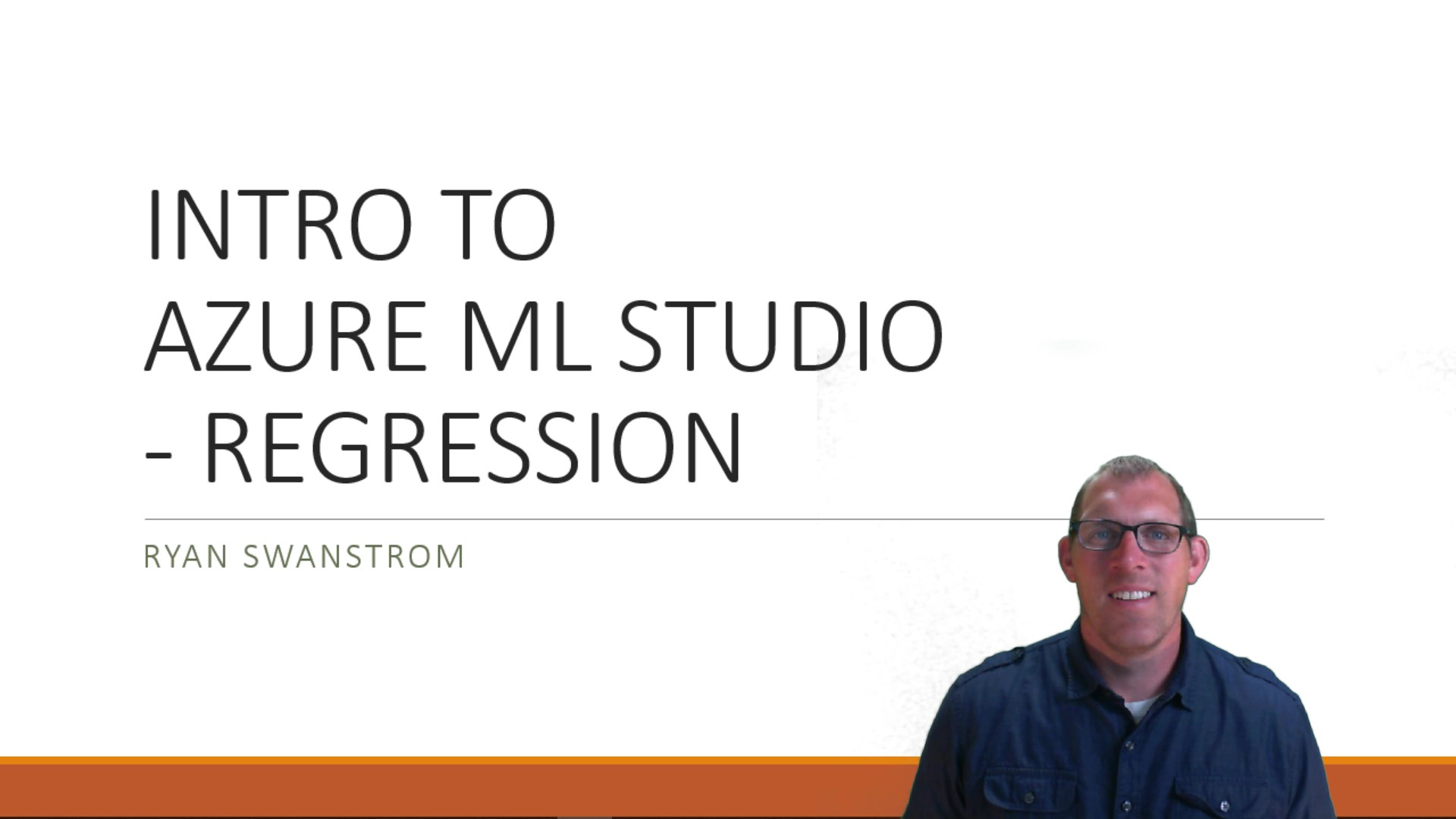 Intro to Azure ML Studio with Regression