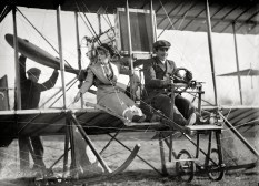 Senorita Lenore Riviero With Antony Jannus In A Rex Smith Aeroplane, Washington, D.C., circa 1911 (Original from shorpy.com)