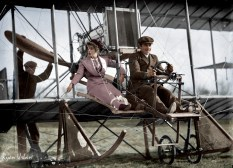 Senorita Lenore Riviero With Antony Jannus In A Rex Smith Aeroplane, Washington, D.C., circa 1911