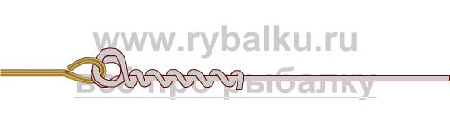 釣りノード - 血まみれのノード写真2のクリンチのフックをバインドする方法2