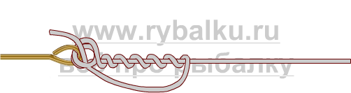 釣りノード - 血まみれのノード画像のクリンチのフックをバインドする方法3