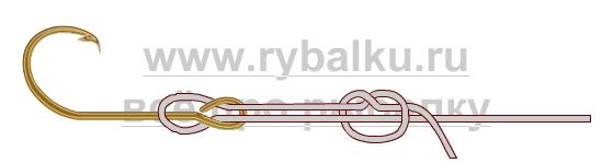 Балық аулау түйіндері - HOOK қақпағын қалай байланыстыру керек 3-сурет