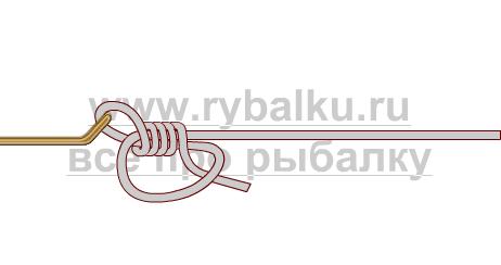 釣りノード - フックダンカンのループ写真2を綴じる方法2