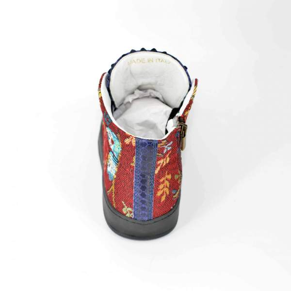 Red owl goblin & dark blue snake RYC & RICH-YCLED Handmade Shoes From Italy €285