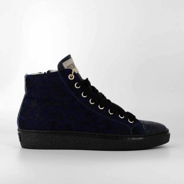 black'n Blue baroccato with deep blue coco leather RYC & RICH-YCLED Handmade Shoes From Italy €275