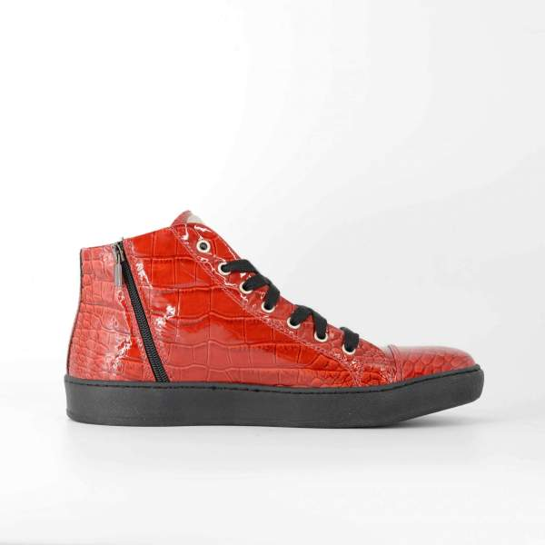 double Red coco leather RYC & RICH-YCLED Handmade Shoes From Italy €370