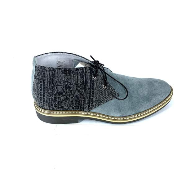 black'n grey piedipull with grey suede leather RYC & RICH-YCLED Handmade Shoes From Italy €240