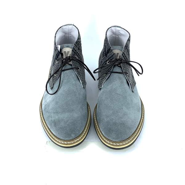 black'n grey piedipull with grey suede leather RYC & RICH-YCLED Handmade Shoes From Italy 240€