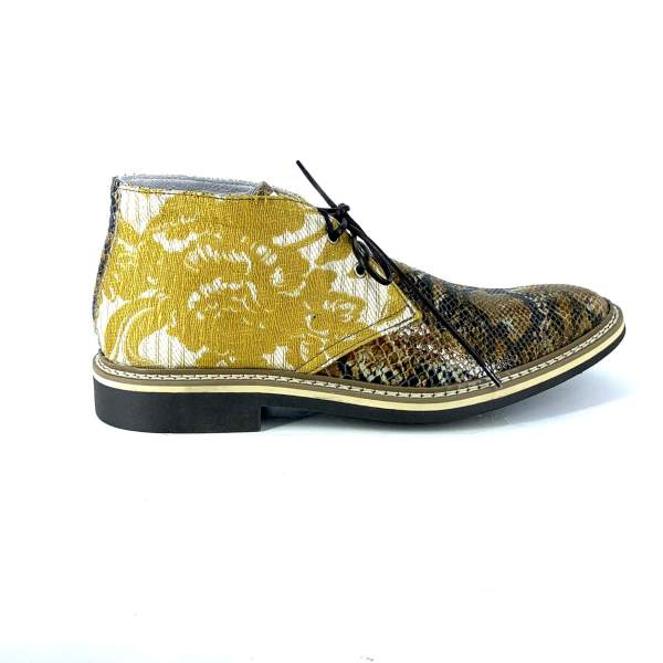 Senape Baroccato with multi brown tex leather RYC & RICH-YCLED Handmade Shoes From Italy €240