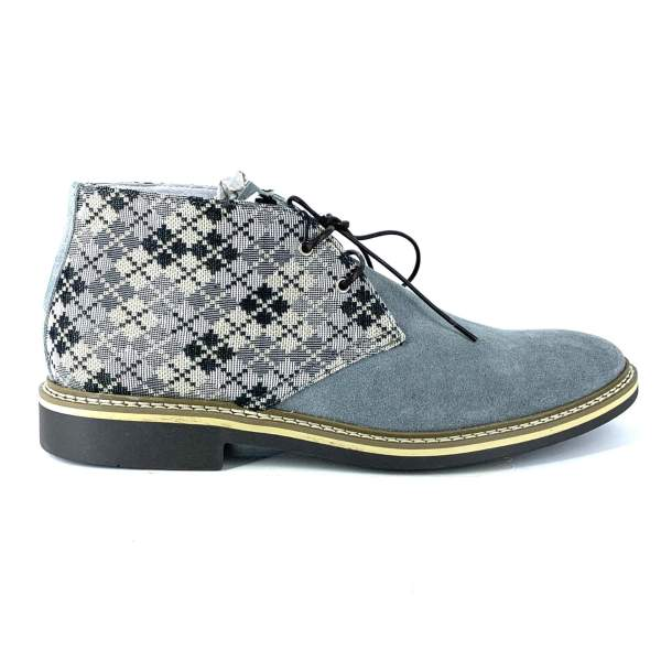 Multi Squared Piedipull with grey suede RYC & RICH-YCLED Handmade Shoes From Italy 250€