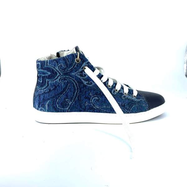 blue mix marine goblin with blue hammered leather RYC & RICH-YCLED Handmade Shoes From Italy €265