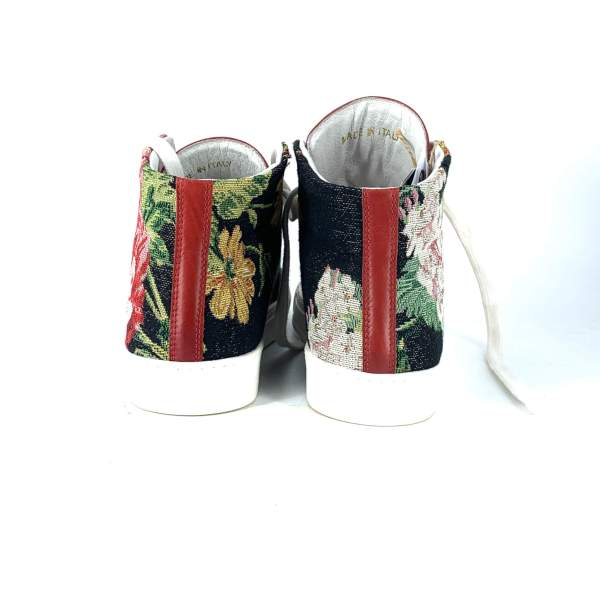 Floral goblin with maltinto red leather RYC & RICH-YCLED Handmade Shoes From Italy €275
