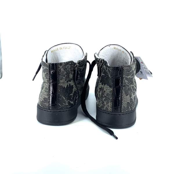 Multi Dark Grey baroccato with black coco leather RYC & RICH-YCLED Handmade Shoes From Italy €285