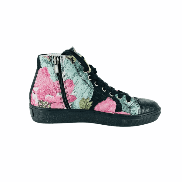 MULTI FLOWER Goblin WITH BLACK coco LEATHER RYC & RICH-YCLED Handmade Shoes From Italy €275
